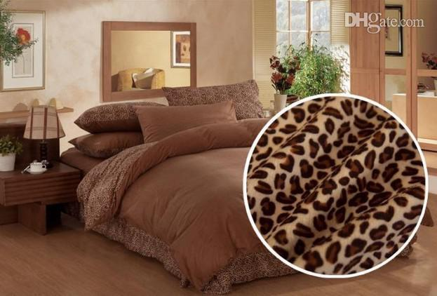 lady leopard active printed thick softest velvet bedding set for warm winter queen king size duvet & lady leopard active printed thick softest velvet bedding set for ...