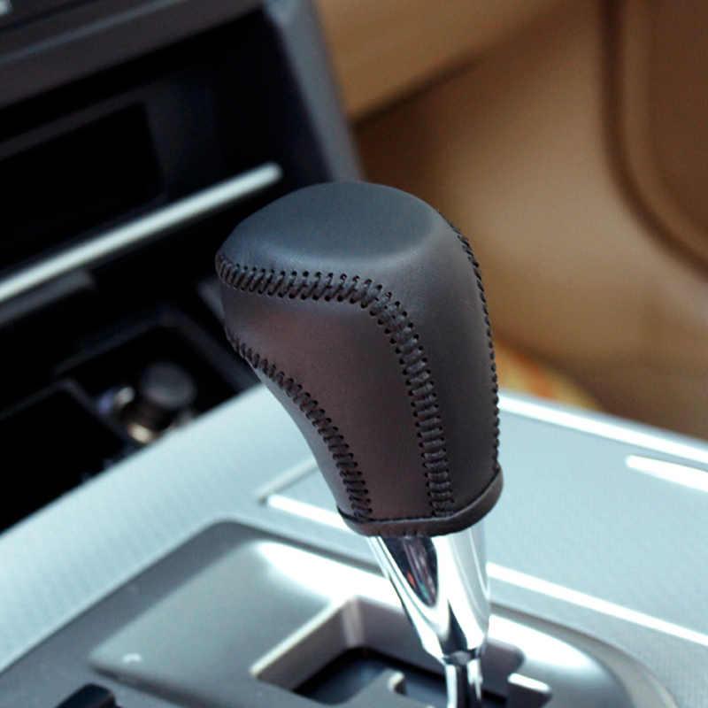 LS AUTO Top en cuir véritable levier de vitesse bouton de levier de vitesse en cuir pour Toyota CAMRY Case ppc cp étui à stylo sur le levier de changement de vitesse