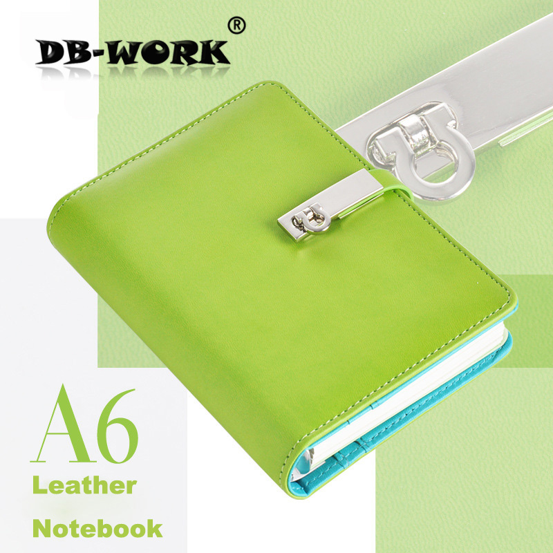 2017 Business Leather Notebook Korea hand books portable loose-leaf creative diary students stationery notepad free shiping ann notebook korea school supplies stationery cute happy graffiti leather surface solid color printing loose leaf diary notepad