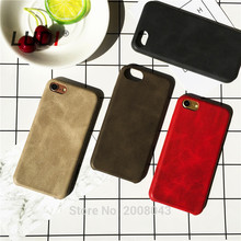 LUDI New High-quality Classic Vintage Leather Case for iphone X 8 6 6S 7 / Plus luxury Ultra Slim Official Matte Back Cover
