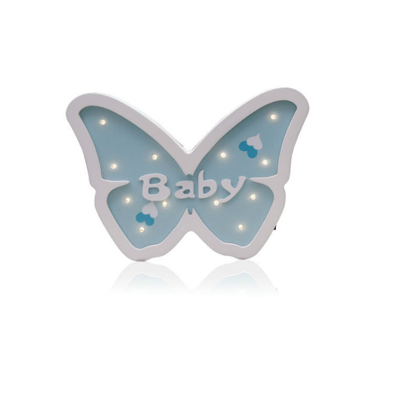 Cartoon Butterfly Modeling Light LED Nattlys Baby Room Dectoration - Ferie belysning