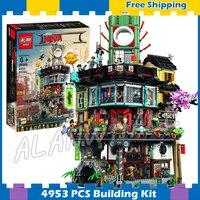 4953 шт. Новый Ninja великого творца городского строительства 10727 модель модульных блоков подростков игрушки Кирпичи совместимы с lego