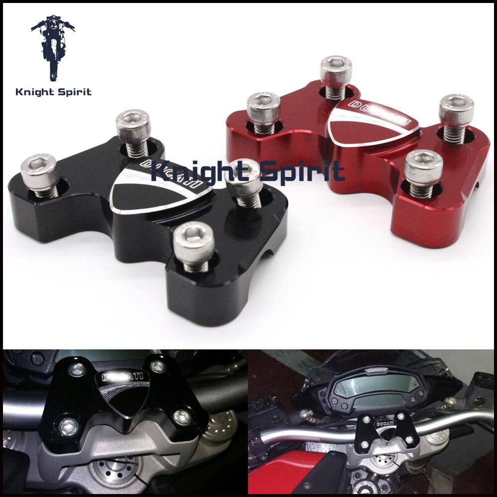 Для Ducati Monster 696 2008-2014 Аксессуары для мотоциклов ЧПУ алюминиевая заготовка руль 3D логотип