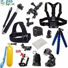 Saqn для GoPro аксессуары установить штатив монопод нагрудный ремень крепления головы ремешком для Go Pro HERO4 3 5 Black Edition костюм для мальчиков, футболка + штаны Для SJCAM H8 H9