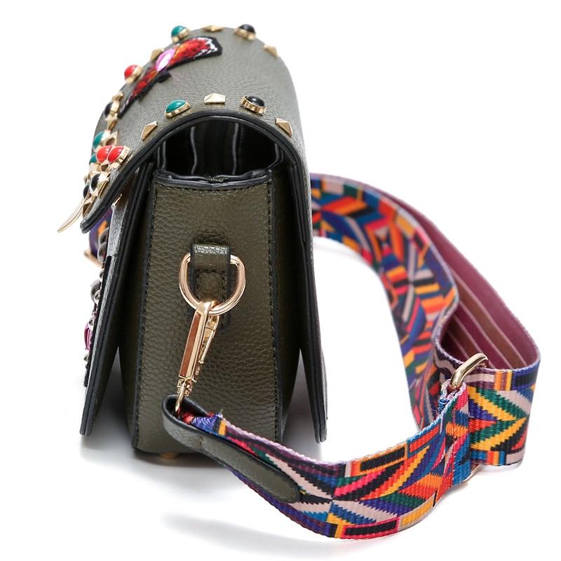 Designer Women Messenger Bag Vintage Printing Butterfly Women Crossbdoy Bags Rivet Woman Shoulder Bag Brand Leather Handbags