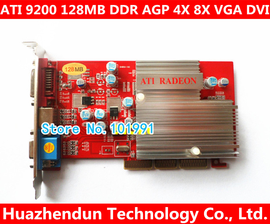 Direct From Factory NEW ATI 9200SE 128MB DDR AGP 4X 8X VGA DVI Video Card AGP Card Graphic Card