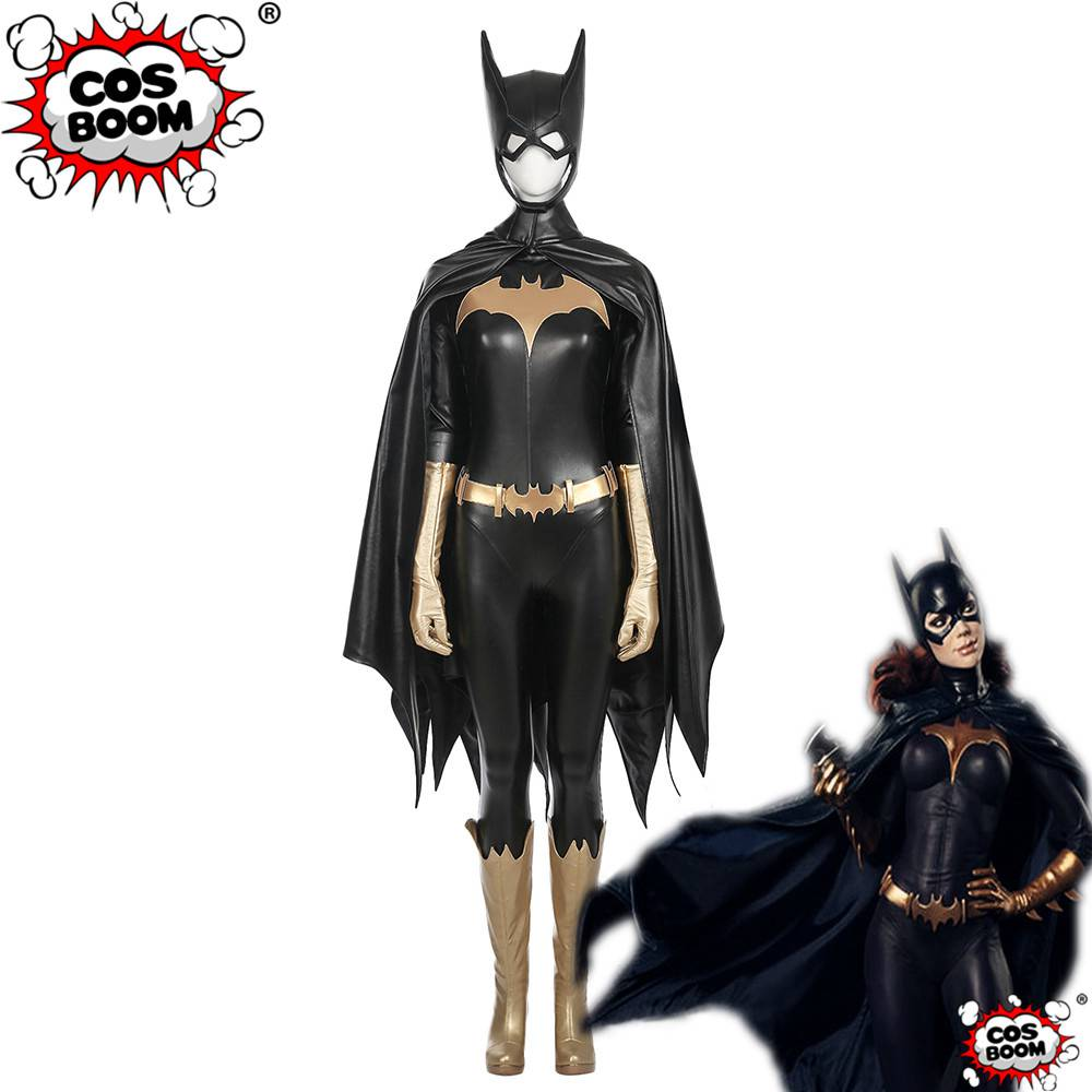Super Hero Batman Batgirl Cosplay Costume Custom Made Full Suit Adult Halloween