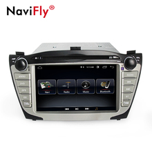 NaviFly Android 8.1 car multimedia player per Hyundai/IX35/TUCSON 2009-2015 due din 8 pollici GPS sistema di lettore DVD radio stereo