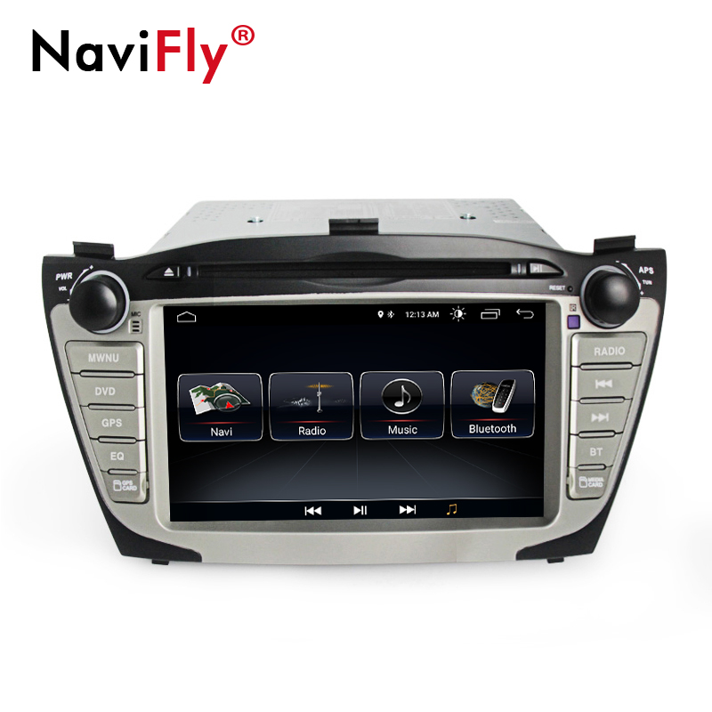 NaviFly Android 8.1 car multimedia player for Hyundai/IX35/TUCSON 2009-2015 two din 8 inch GPS system DVD radio stereo player