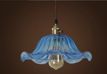 E27*1,Vintage Industrial Lighting Pendant Light With Glass Lampshade Loft Edison Lamp,Lamparas Colgantes De Sala Teto Pendente