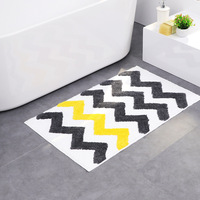 FANCAI Stripe Waterproof Christmas Mat Bathroom Kitchen Carpet Kitchen Rug Door Mat