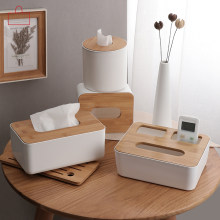 Rschef Dapur Rumah Kayu Kotak Tissue Plastik Kayu Solid Serbet Pemegang Case Simple Stylish(China)