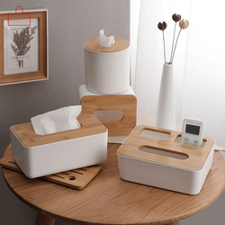 RSCHEF  Home Kitchen  Wooden  Plastic Tissue Box  Solid Wood Napkin Holder Case Simple  Stylish