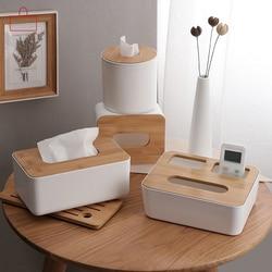 RSCHEF  Home Kitchen  Wooden  Plastic Tissue Box  Solid Wood Napkin Holder Case Simple  Stylish