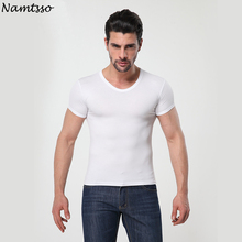 Mens MODAL Solid color underwear clothing close fitting short sleeve Relax breathable strench O neck undershirts
