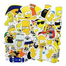 25 шт./лот забавные мультяшные Симпсоны бренд граффити наклейки Скрапбукинг скейтборд водонепроницаемый ПВХ ноутбук багаж наклейки упаковка