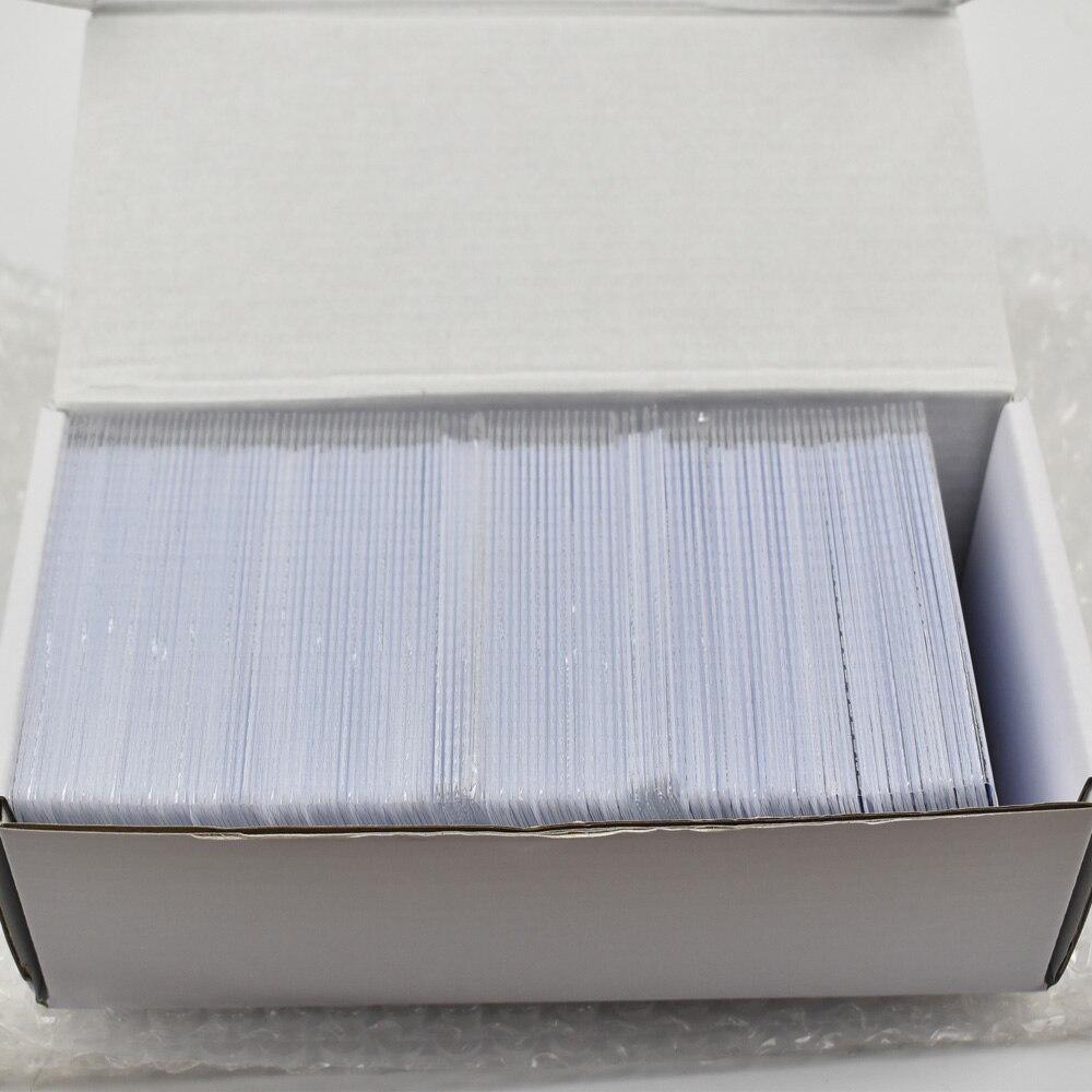 200pcs/lot Nfc 1k S50 Blank Card Thin Pvc Card RFID 13.56MHz ISO14443A IC Smart Card Fudan Chips Waterproof