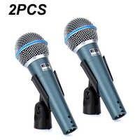 2 pçs bt 58a profissional cantor de palco vocal microfone dinâmico com fio para gravação de vídeo beta58a beta 58 karaoke sistema ktv