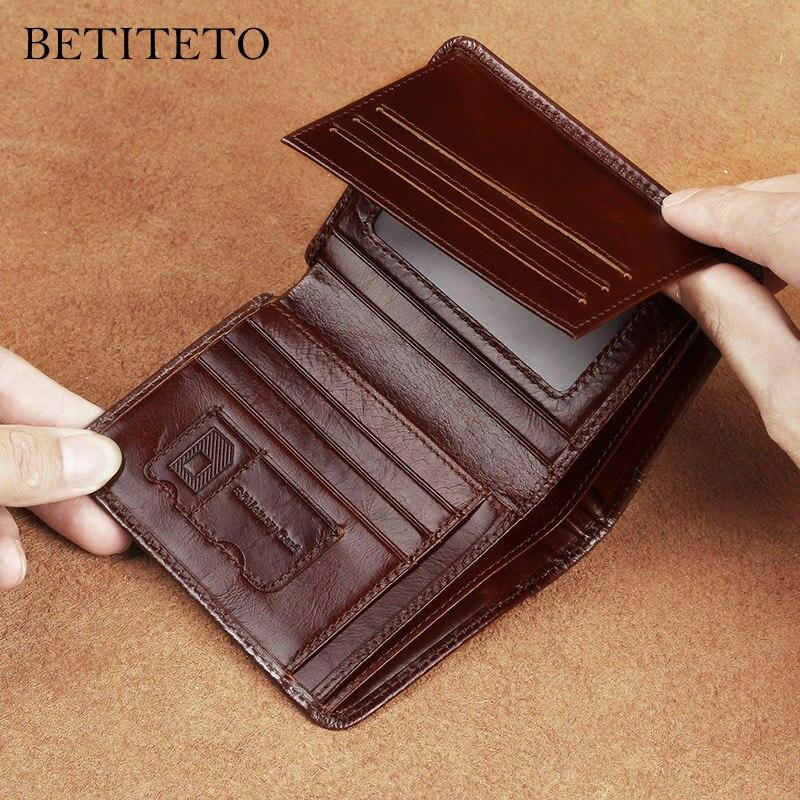 3e852239e0e6 Betiteto мужской кошелек из натуральной кожи мужской Partmone Carteras мини  маленький ...
