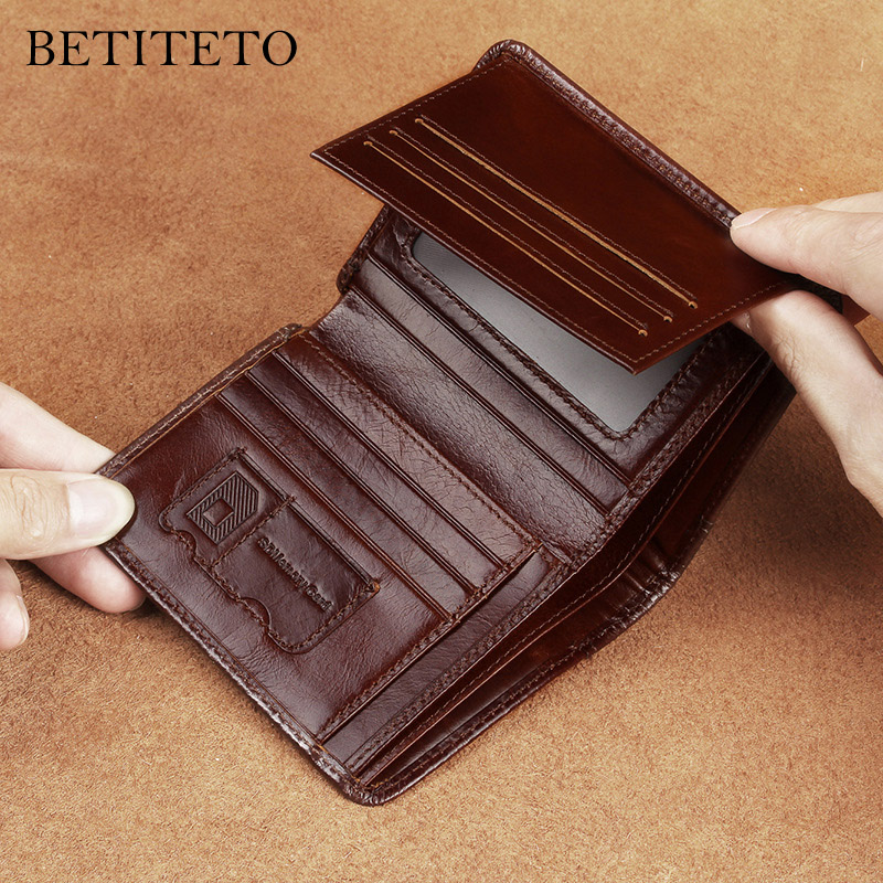 Betiteto Genuine Leather Male Wallet Men Partmone Carteras Mini Small Coin Purse Fashion Portomonee Cuzdan Money Bag Portmann mingclan genuine leather wallet men coin purse male cuzdan small wallet portomonee portfolio slim mini purse wallet money bag