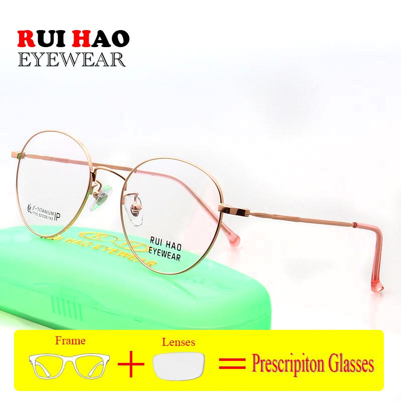 Retro Prescription Eyeglasses Customize Optical Eyeglasses Frame Unisex Titanium Spectacles Brand Myopia Hyperopia(China)