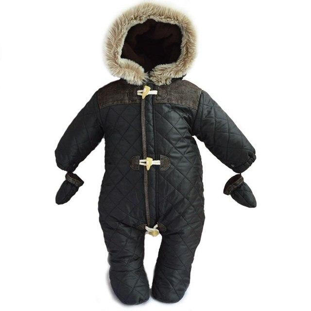 original new baby romper newborn clothing boys winter warm snowsuit hoodies outerwear infants romper clothes