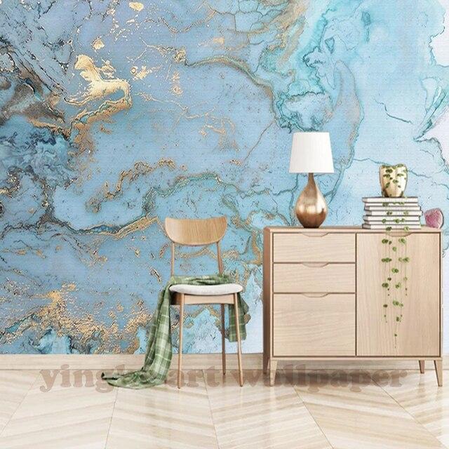 Custom Wallpaper For Walls 3 D Modern European Style Art Mural Blue