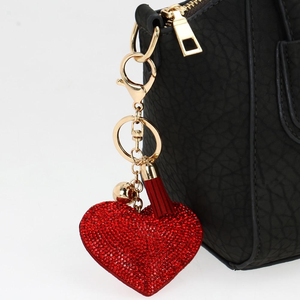 Pendant Romantic Leather Keychain Love Heart Bag Keychain Girls Lovely  Women Key Chain Valentine s Day Gift Bag chaveir ca8f2fe7e7fc