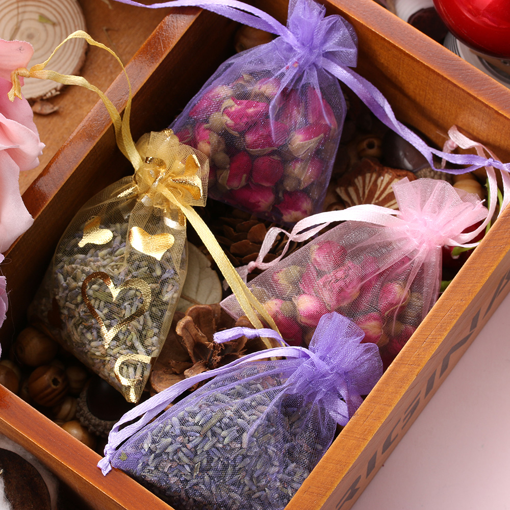1Pc Natural Aromatherapy Aromatic Household Wardrobe Car Lavender Air Fresheners Lavender Bud Dried Flower Sachet Bag