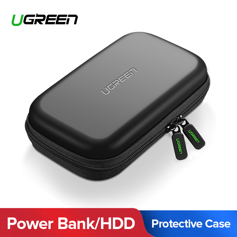 Ugreen Banco caso duro caso caja para 2,5 USB disco duro externo almacenamiento SSD HDD caso
