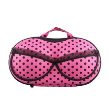 5pcs( ASDS Portable Organizer Case Bag for Underwear Lingerie Bra Protect EVA Fuchsia
