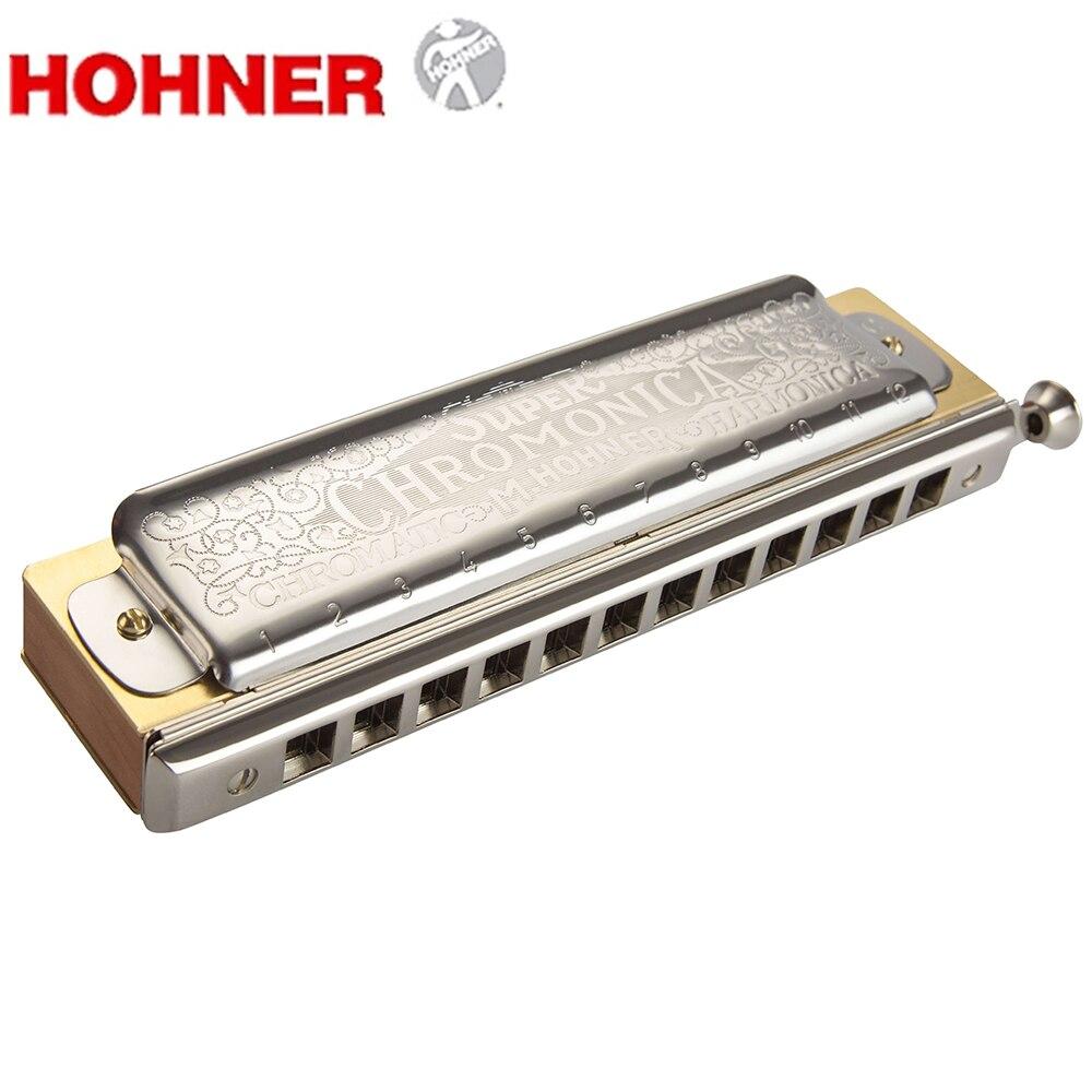 Hohner Super Chromonica 270 Chromatic Harmonica 12 Holes Harp Mouth Organ Key of C Musical Instruments Pearwood Comb Brass Reeds все цены