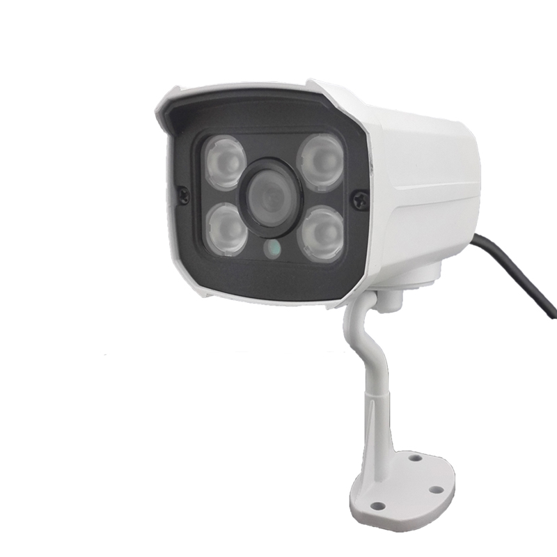 ФОТО SD card slot HD 720P 1MP IP Camera White Matal Weatherproof Network Wired Camera Support Outdoor Security Camera IR Night Vision