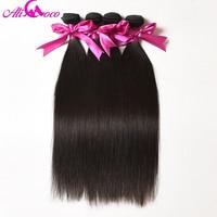 Ali Coco Peruvian Straight Hair 4 Bundles Deal 100 Human Hair Weave Bundles 10 28 Inch