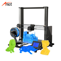 Anet Upgraded A8 plus 3d Printers DIY Kit Aluminum Alloy Frame Printing Size 300*300*400 A8 3d printer with auto bed leveling