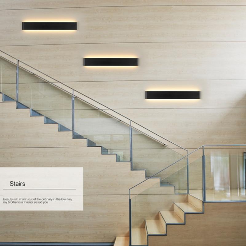 Moderne Eisen Wand Lampe Artikel Gerade Streifen Treppen Bad Beleuchtung In With Treppe An