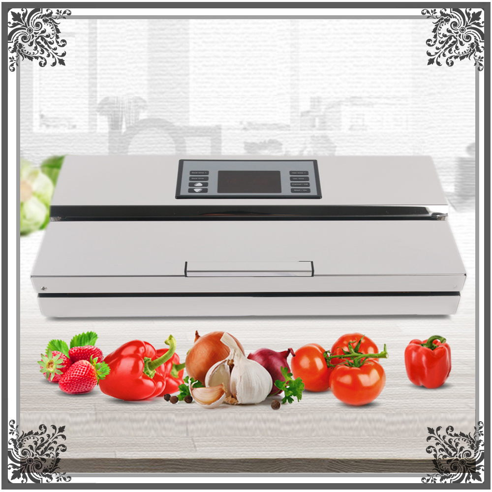 110V 220V Electric Vacuum Food Sealer Semi-Autimatic For Vacuum Packed Fish Sea Food with Micro Control panel корм tetra tetramin xl flakes complete food for larger tropical fish крупные хлопья для больших тропических рыб 10л 769946