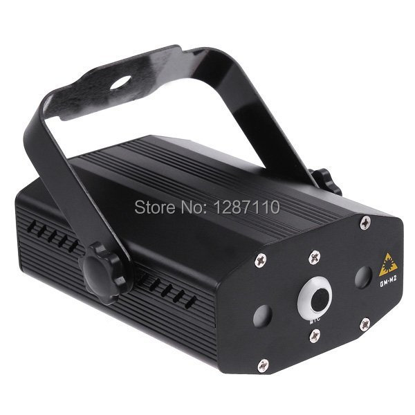 ФОТО 2PCS/lot Mini Projector Red & Green light Laser Stage Light DJ Party Stage Lighting Club Disco Moving Party Light