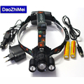 2017 New 3T6 Zoomable Headlamp XML T6 Zoom 8000 Lumens 4 Mode LED Headlight USB Power Rechargeable Hunting Head Light Charger