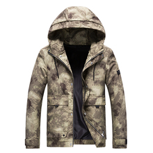 Spring and Autumn Camouflage Print Loose Plus size Hooded Army Style High Quality Tooling Jacket Youth Fashion Jacket
