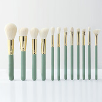 New 12 Pieces Full Size Beautiful Makeup Brush Set Professional Synthetic Soft High Quality Brand Makeup Brushes Black