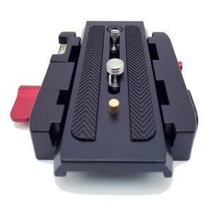 Image 4 - Quick Release Plate Sliding 501PL Plus Rapid Connect Base for Manfrotto 501 503 701HDV MH055M0 Q5 1/4 3/8 Screw 11.8cm