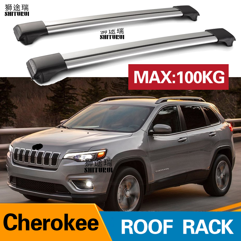 Automobiles & Motorcycles Beautiful 2pcs Roof Bars For Jeep Cherokee 2014 Kl Aluminum Alloy Side Bars Cross Rails Roof Rack Luggage Load 200kg Vehicle Mounted Curing Cough And Facilitating Expectoration And Relieving Hoarseness