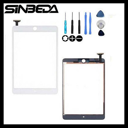 Sinbeda For iPad Mini 1 A1455 A1454 A1432 for ipad Mini 2 A1489 A1490 A1491 Touch Screen Digitizer Replacement White black color