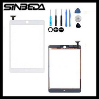 Sinbeda Para iPad 1 Mini A1432 A1454 A1455 para ipad Mini 2 A1489 A1490 A1491 Reemplazo Touch Pantalla Digitalizador de color negro Blanco