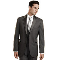 The Latest Men S Suits Custom Made Handsome Grey Wedding Suits Best Men Suits Men Suits