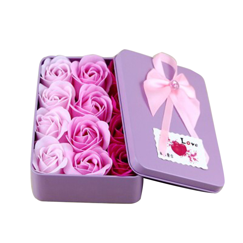 Gift-Box-Ornaments Simulation-Bouquet Roses Holiday-Gifts Home-Decoration Wedding Creative