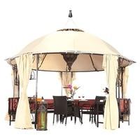 Steel Outdoor Pavilion with Curtain / Backyard Garden Alfresco Party