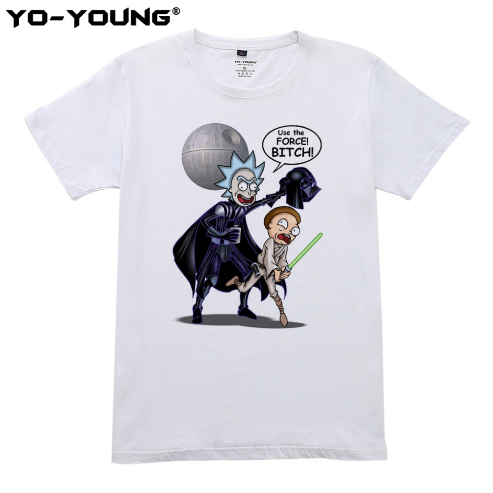 Legújabb Rick and Morty pólók Férfi Star Wars Design Digitális - Férfi ruházat