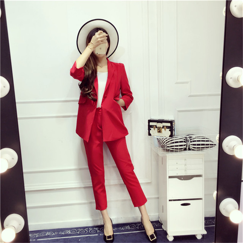 LOW LUV 2 piece outfits for women Spring style temperament Slim business
